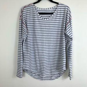 Lululemon Athletica Striped Long Sleeve top